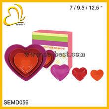 Melamine Heart Shaped Bowls