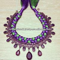 boho necklace fashion statement necklace bib necklace