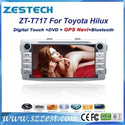 ZESTECH car dvd radio for Toyota Hilux with gps navigation