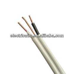 flat twin & earth cable 300/500V solid conductor