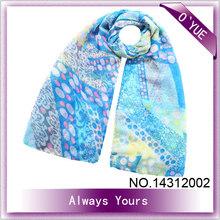 Printed Women Style Viscose Scarf Rayon Shawl
