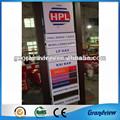 custom projeto de estrutura metálica tela led hpl preço do gás estação placa
