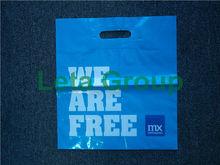 printed shopping bag, plastic grocery die cut bag