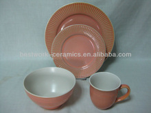 New design reactive glazed wholesale china used restaurant dinnerware