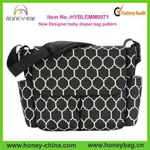 Wholesale shoulder messenger baby diaper bag pattern holding nursery bag