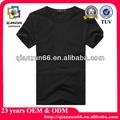 plain camiseta preta para o homem
