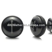 Beautiful stainless steel Black Cross stud earrings for men