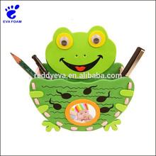Lovely EVA foam Frog Pencil Brush Pot