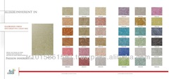 Glorious with pearl pigments which vary according to the light, bright, decorative interior wall coating material.
