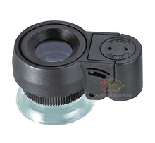 45x Jeweler Loupe 21mm Glass Lenses Focus-Adjusting Jewelry Magnifier