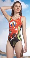 Hot Sale Beautiful Girl's Digital Print One Piece Tight Swimsuit