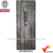 shabby chic knife design kitchen decoration metal plaque embossed