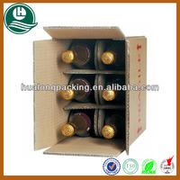 High-quality custom corrugated 6 bottle cardboard wine box