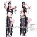De alta calidad profesional sexy tribales etapa de rendimiento de la danza del vientre trajes, indio de danza del vientre desgaste bl015