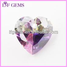 wholesale synthetic heart zircon for pendants