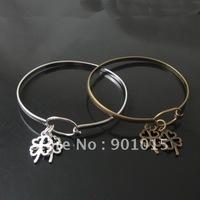 Cuff Bracelet Setting,anti-brass/platina platedcolor,18X11mm&60mm,ID11530