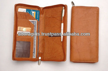 zippered checkbook covers / casual leather mens checkbook wallets / leather business checkbook holders