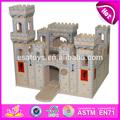 2015 brinquedo de criança de madeira dobrável castelo medieval brinquedos, Best seller DIY de madeira castelo brinquedo, De alta qualidade de madeira castelo de brinquedo W06A035