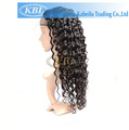 100% cabelo crespo encaracolado peruca cheia do laço
