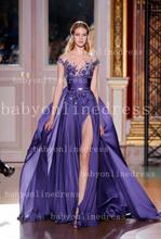 robes elie saab à vendre 2013 fente haute dentelle appliqued robes de soirée sexy nouvelle mode vestimentaire pour les femmes bo4261 2013 couture