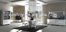 modern dining room high gloss tables