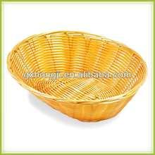 Oval bread basket plastic rattan Basket wicker basket