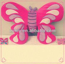 2014 custom super sofa animated design soft plush butterfly shaped pillow& Memory Foam cushion
