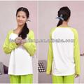 Oem aceptar plain color de enfermería top lactancia materna camiseta de manga larga de la blusa ocasional AK072