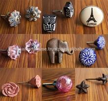 Vintage Ceramic Knobs, Glass Knobs, Metal Knobs - 3