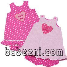 Reversible heart appliqued clothing for girls DR 913
