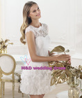 sexy lace flowr short-sleeves enchaing sweetheart alibaba sexy short wedding dress 2013 made in China(WAW-009)