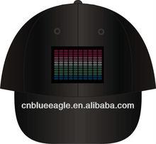 Hip-hop EL Cap,LED Cap Sound Activated,plain dyed Cap customized logo led cap lights wholesale
