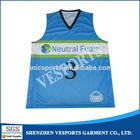 Sublimation reversible basketball jersey custom design