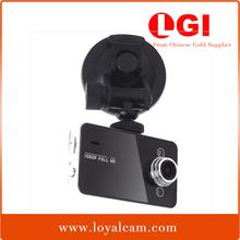 Cheapest Novatek K6000 full hd dash car camera1080P 2.7Inch LED with 140degree Super Wide Angle Lens and G-Sensor Function