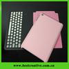 New pink for ipad mini keyboard case with bluetooth keyboard