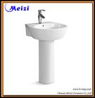 Modern design pedestal ceramic sink for barber