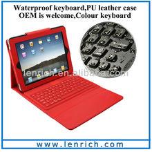 LBK107 Best price silicone keyboard for ipad 2 3 4 silicone bluetooth keyboard case