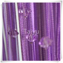 Luxury european style window cotton string curtain