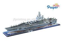 flugzeugträger ford diy spiel puzzle 3d papier modellschiffe