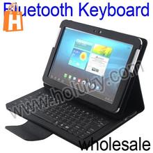 Lichee Pattern Leather Case+Wireless Bluetooth Keyboard for Samsung Galaxy Tab 10.1 P5100 P7510 P7500