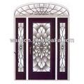 Ws-ga138 cor de vidro em camadas triplas de painéis de vidro da porta de metal de duas portas lite com janela