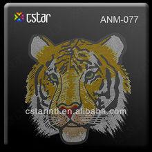 Chinese Supplier High quality Tiger design Domestud strass hotfix rhinestone motif