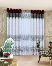 Fashion luxury roman curtains/eyelet curtains