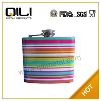 18/8 FDA 6oz colourful water transfer logo wine glass/bottle