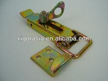 Heavy duty bar locking link latch