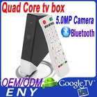 full hd android tv stick with camera HDMI remote control Android 4.2.2 quad core android tv box iptv
