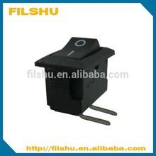 black Mini rocker switch used for PCB board