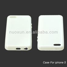 Transparent tpu bumper case for iphone 5
