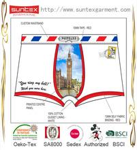 2014 New Fashion Digital Photo Printing Boxers Mens Underwear Manufacturer