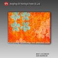 Venta caliente de color naranja de flores pintura al óleo moderna mhf-131108105